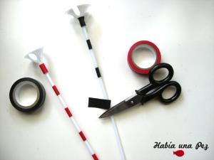 Materiales tutorial palitos de globo decorados