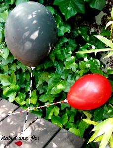 Palitos de globo decorados
