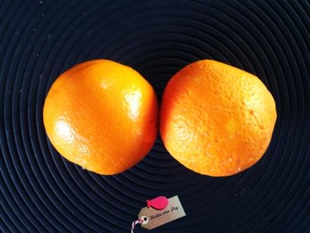 Comparación naranja ecológica y no bio