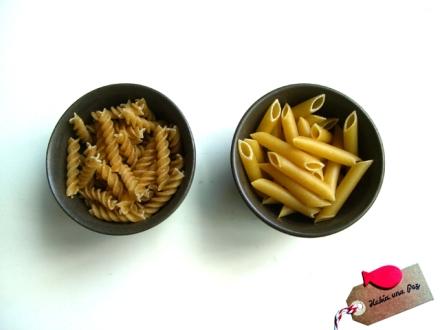 Mejor espirales que pasta sin estrías donde arrastrar salsa