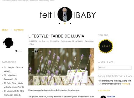 Nuevo post en feltBABY