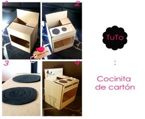 Cómo hacer una cocinita de cartón de juguete