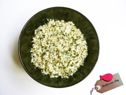 Receta fácil y rápida de trigo tierno con pesto