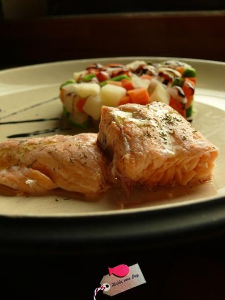 Receta rápida salmón vapor presentación