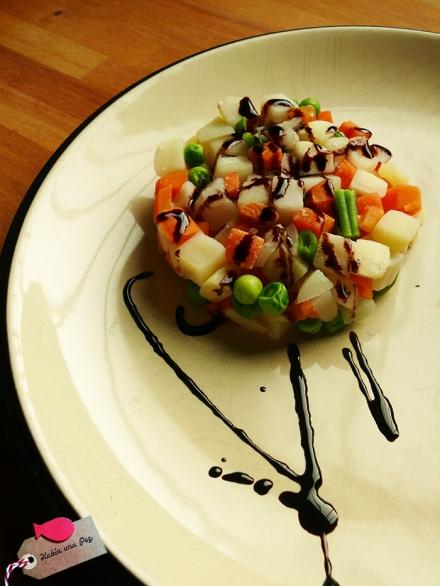 Receta rápida salmón vapor verduras módena