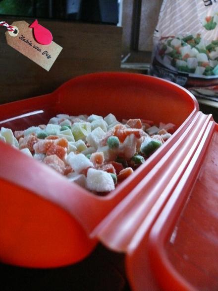 Receta rápida salmón vapor verduras
