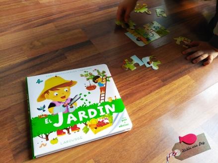 Libro para niños El jardín